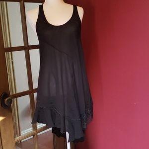 Intimately Free black nightgown/sleepwear nwot